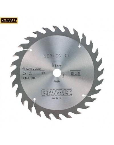 DT4031-QZ Δίσκος δισκοπρίονων Dewalt 184/16 1.8/2.6 28 ATB 25°