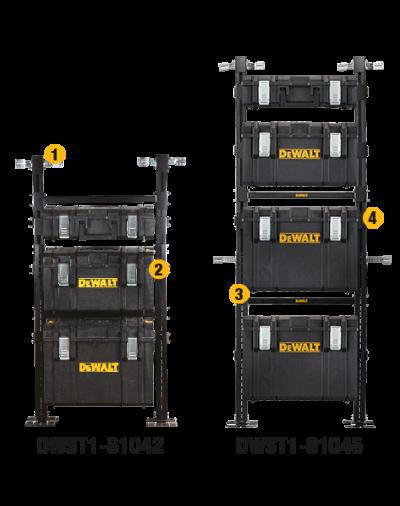 DWST1-81045 dewalt ζεύγη βραχιόνων με πρόσθετο σύστημα ραφιών